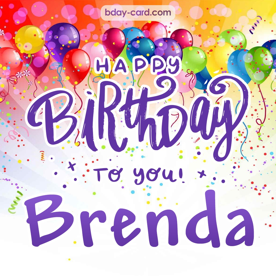 Birthday Images For Brenda Free Happy Bday Pictures And Photos Bday Card Com