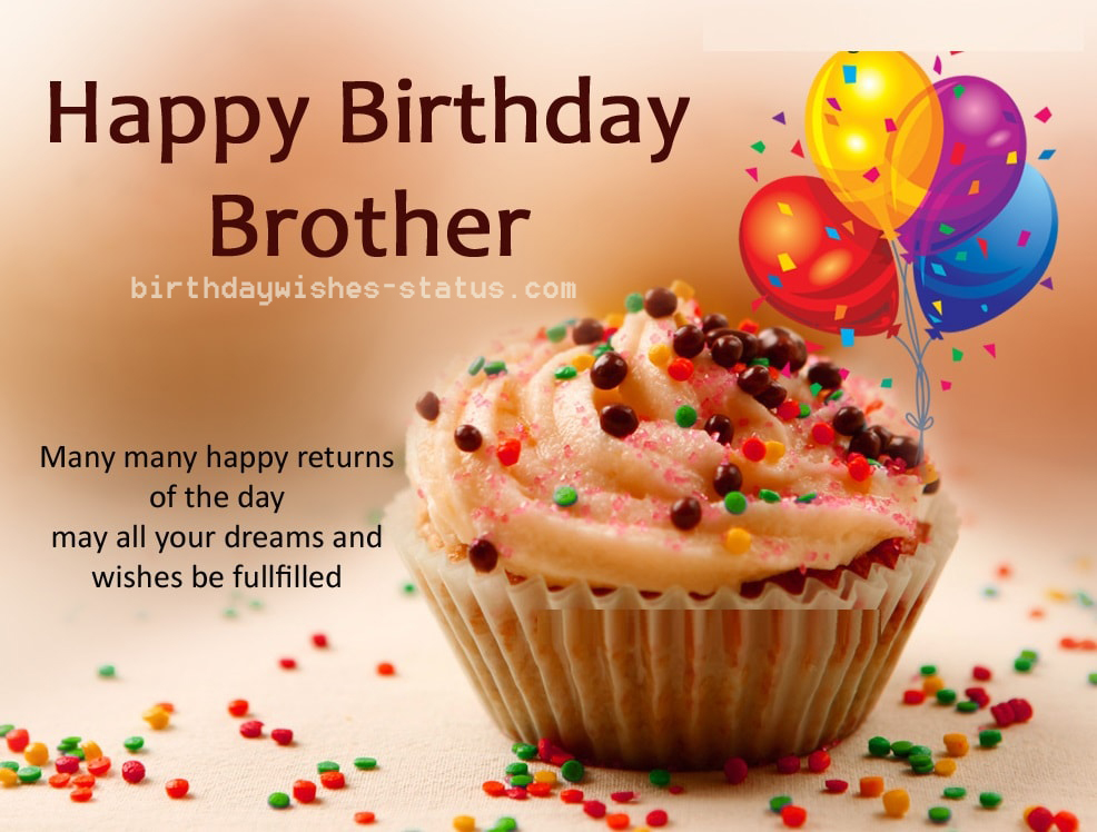 Happy birthday wishes for brother birthday message for br...