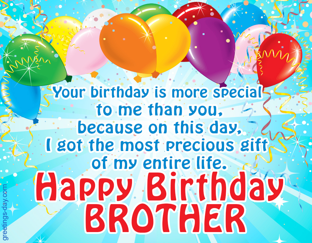 Happy Birthday Wishes With Images For Brother