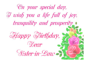 Happy birthday sister in law ecard greetingshare