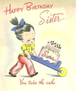 To My Little Sister Funny Birthday Card Amp Gree