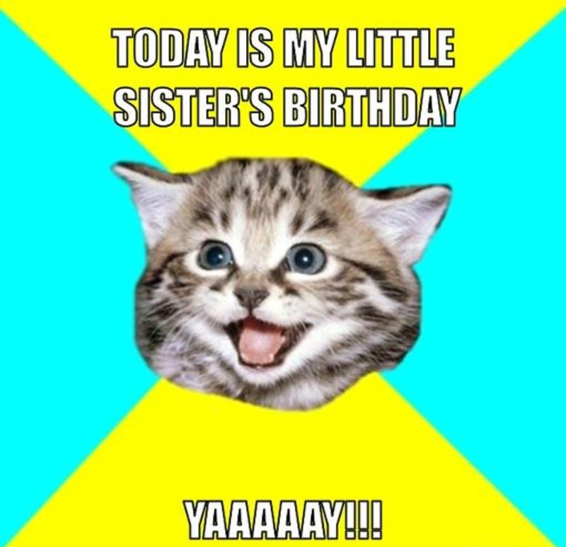 Today Is My Little Sisters Birthday Happy Birthday Images For