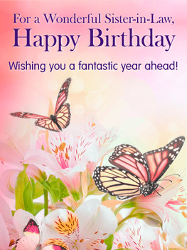 Funny Sister In Law Birthday Cards Card Design Ideas