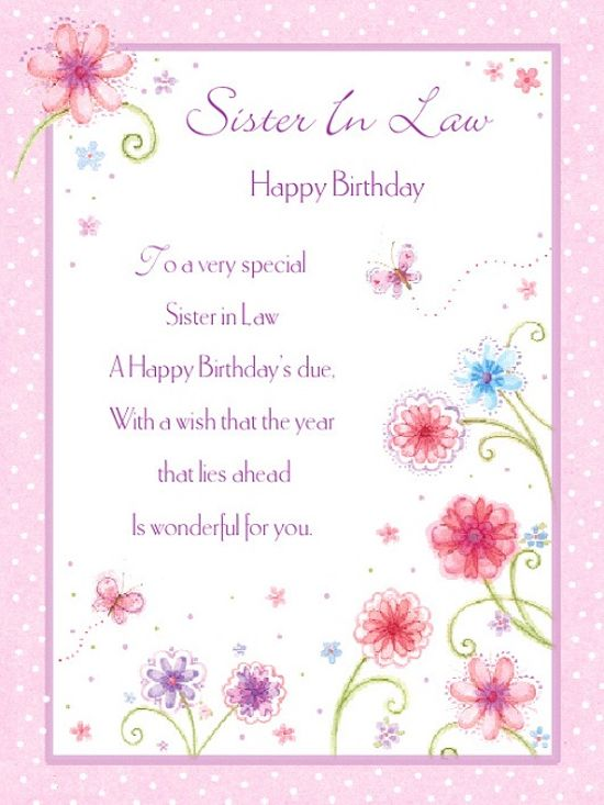 Happy Birthday Sister in Law Images💐 - Free bday cards and ...