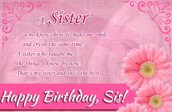 Happy birthday wishes for sister birthday wishes for sis ...