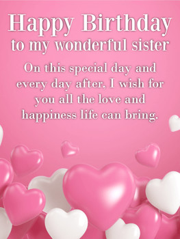 I wish for you all the love happy birthday wishes card for