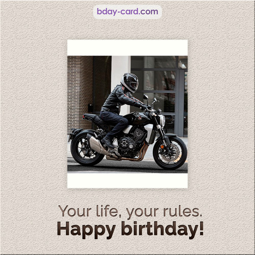 Birthday - Your life, your rules