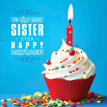 Happy birthday sister recordable greeting card by uc voice