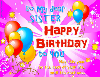 Happy birthday sister ecards pictures amp gifs