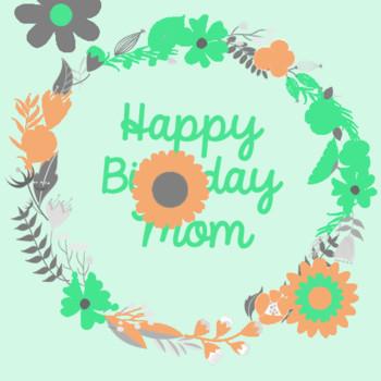 Flowery Happy Birthday Mom Free For Amp Dad Ecards 1