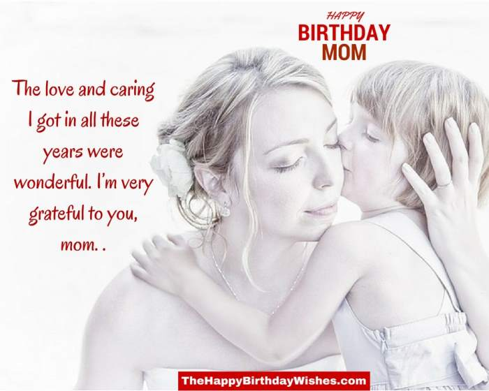 Happy Birthday Wishes For Mom From Daughter Bday Card Com