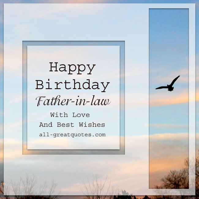 Free Birthday Cards For Father In Law With Love And Best