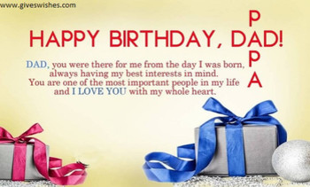 Inspirational happy birthday message for father birthday ...