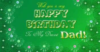 Happy birthday dad wishes cake images greeting card sms