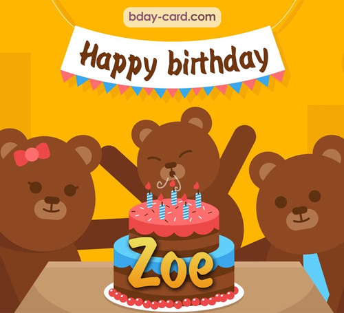 Bday images for Zoe with bears