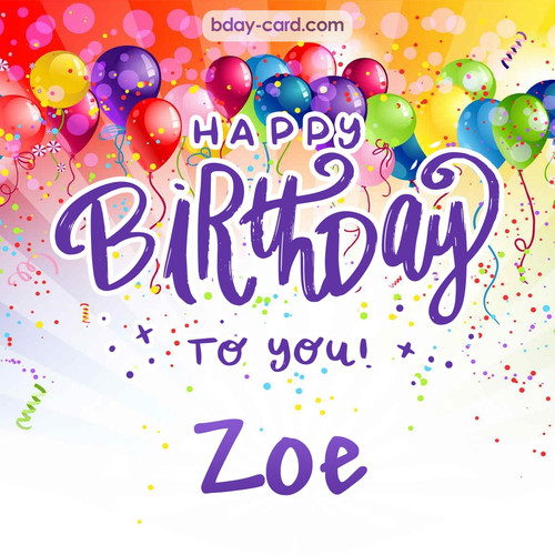 Beautiful Happy Birthday images for Zoe