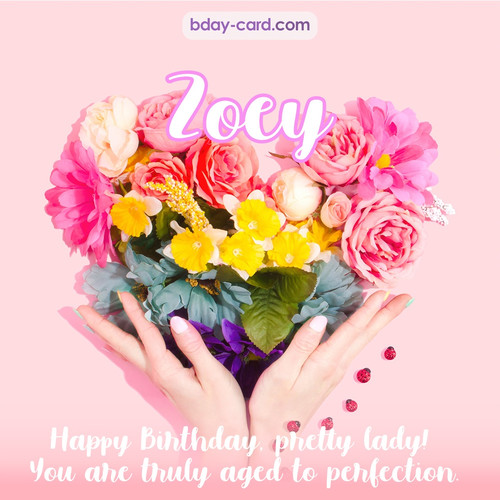 Birthday pics for Zoey with Heart of flowers