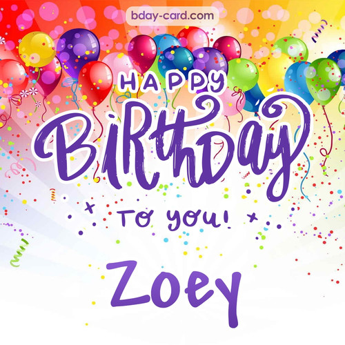 Beautiful Happy Birthday images for Zoey