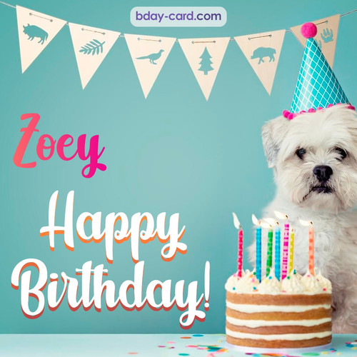 Happiest Birthday pictures for Zoey with Dog