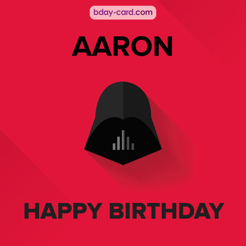 Happy Birthday pictures for Aaron with Darth Vader