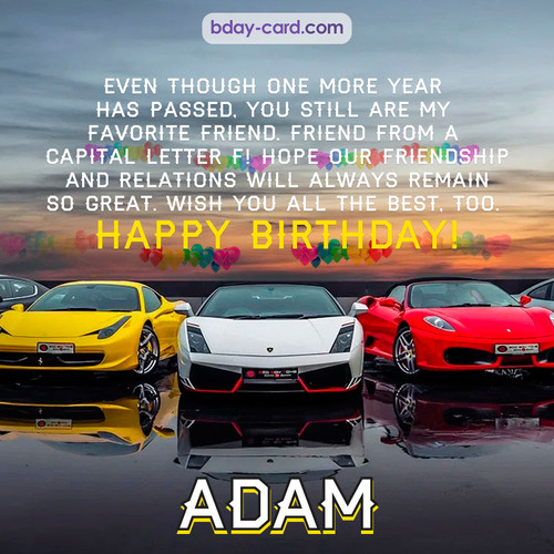 Birthday pics for Adam with Sports cars