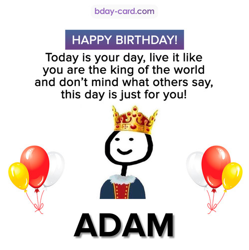 Happy Birthday Meme for Adam