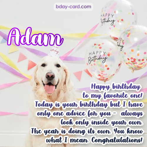 Happy Birthday pics for Adam with Dog