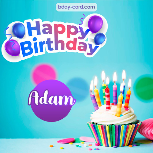 Birthday photos for Adam with Cupcake