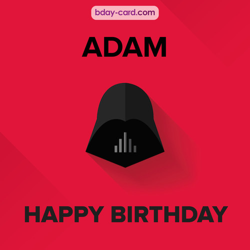 Happy Birthday pictures for Adam with Darth Vader