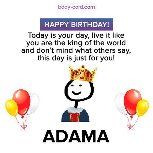 Happy Birthday Meme for Adama