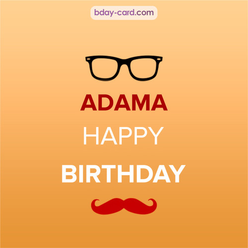 Happy Birthday photos for Adama with antennae