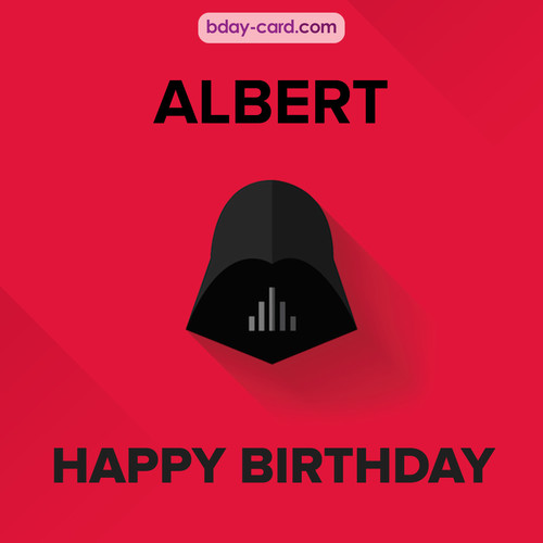 Happy Birthday pictures for Albert with Darth Vader