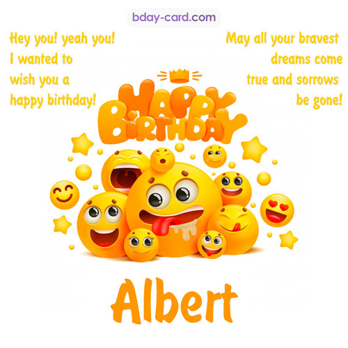 Happy Birthday images for Albert with Emoticons