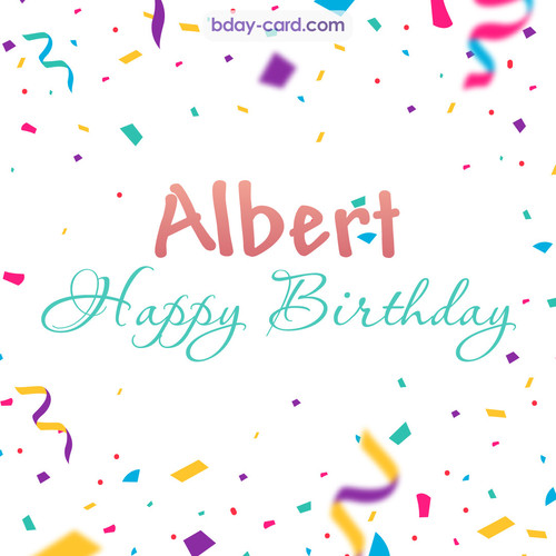 Greetings pics for Albert with sweets
