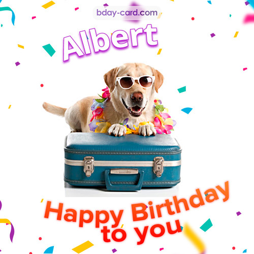 Greetings pics for Albert with Balloons