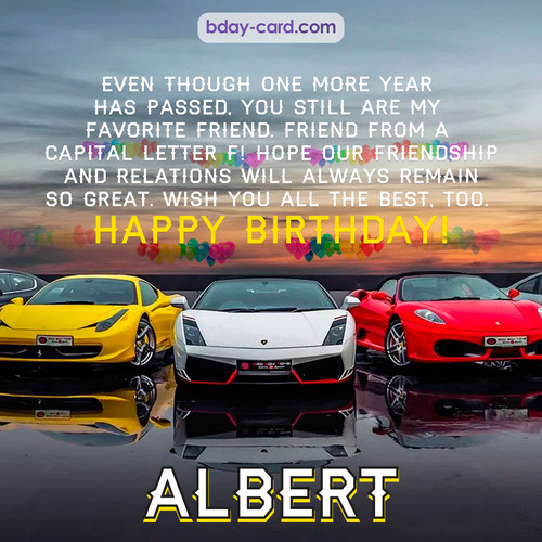 Birthday pics for Albert with Sports cars