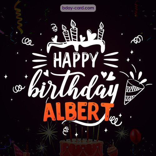 Black Happy Birthday cards for Albert