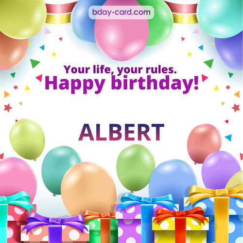 Funny Birthday pictures for Albert