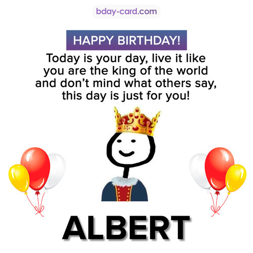Happy Birthday Meme for Albert
