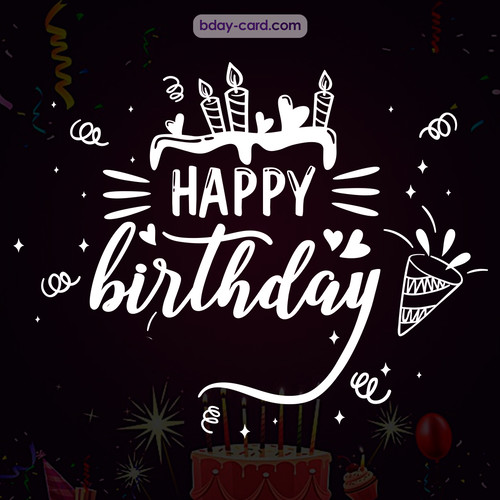 Black Happy Birthday cards for men