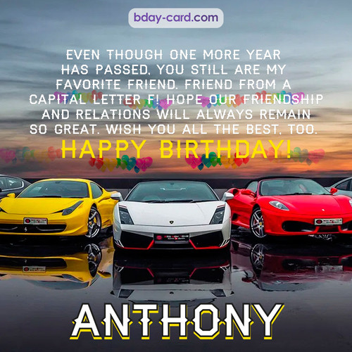 Birthday pics for Anthony with Sports cars