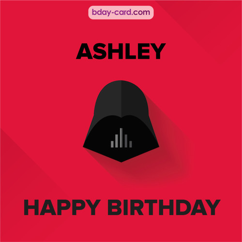 Happy Birthday pictures for Ashley with Darth Vader