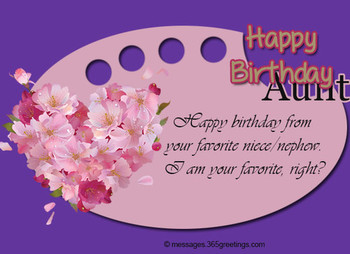 Birday Wishes for Aunt