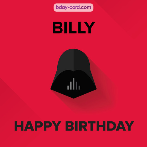 Happy Birthday pictures for Billy with Darth Vader