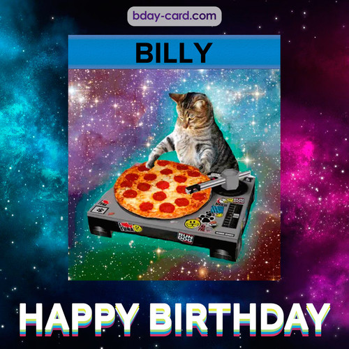 Meme with a cat for Billy - Happy Birthday