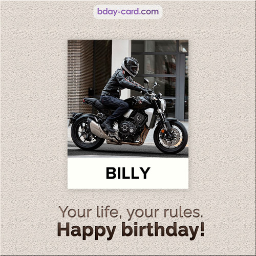 Birthday Billy - Your life, your rules