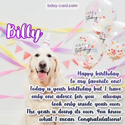 Happy Birthday pics for Billy with Dog