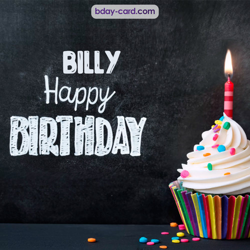Happy Birthday images for Billy with Cupcake