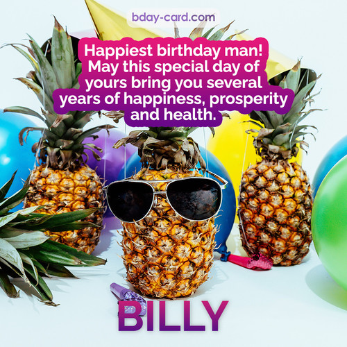 Happiest birthday pictures for Billy with Pineapples