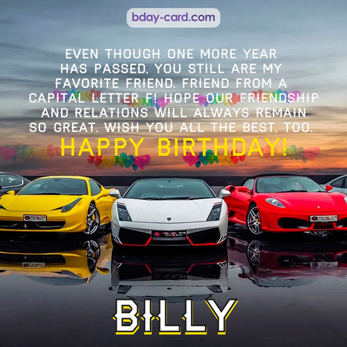 Birthday pics for Billy with Sports cars